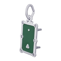 Rembrandt Pool Table Charm, 14K White Gold