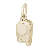 Rembrandt Camcorder Charm, Gold Plated Silver