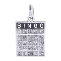 Rembrandt Bingo Card Charm, Sterling Silver