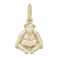 Rembrandt Monkey Charm, Gold Plated Silver