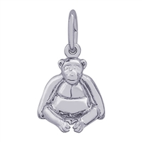 Rembrandt Monkey Charm, Sterling Silver