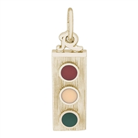 Rembrandt Traffic Light Charm, Gold Plated Silver
