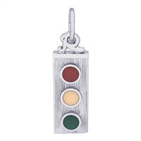 Rembrandt Traffic Light Charm, 14K White Gold