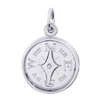 Rembrandt Compass Charm, Sterling Silver