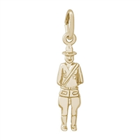 Rembrandt Canada Mountie Charm, Gold Plated Silver