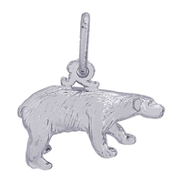 Rembrandt Polar Bear Charm, Sterling Silver