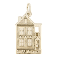 Rembrandt Charleston Row House Charm, Gold Plated Silver