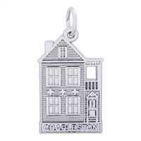 Rembrandt Charleston Row House Charm, Sterling Silver
