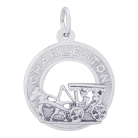 Rembrandt Charleston Carriage Charm, Sterling Silver