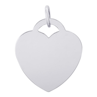 Rembrandt Large Heart - Classic Charm, Sterling Silver