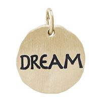 Rembrandt Dream Charm Tag Charm, Gold Plated Silver