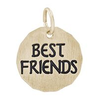 Rembrandt Best Friends Charm Tag Charm, Gold Plated Silver