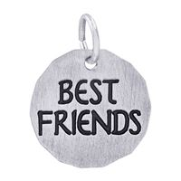Rembrandt Best Friends Charm Tag Charm, Sterling Silver