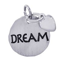 Rembrandt Dream Charm Tag w/ Heart Charm, Sterling Silver