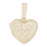 Rembrandt Heart Locket Charm, Gold Plated Silver