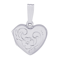 Rembrandt Heart Locket Charm, Sterling Silver