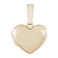 Rembrandt Plain Heart Locket Charm, Gold Plated Silver