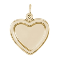 Rembrandt PhotoArt Heart Charm, Gold Plated Silver