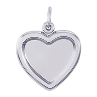 Rembrandt PhotoArt Heart Charm, 14K White Gold