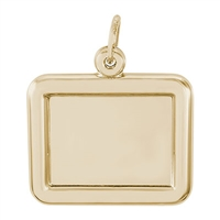 Rembrandt PhotoArt Horizontal Rectangle  Charm, Gold Plated Silver