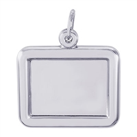 Rembrandt PhotoArt Horizontal Rectangle  Charm, Sterling Silver