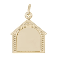 Rembrandt PhotoArt Dog House Charm, Gold Plated Silver