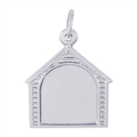 Rembrandt PhotoArt Dog House Charm, Sterling Silver