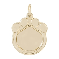 Rembrandt PhotoArt Cat Paw Charm, Gold Plated Silver