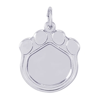 Rembrandt PhotoArt Cat Paw Charm, Sterling Silver