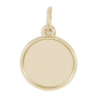Rembrandt PhotoArt Circle Charm, Gold Plated Silver