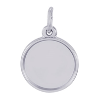 Rembrandt PhotoArt Circle Charm, Sterling Silver