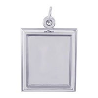 Rembrandt PhotoArt Large Rectangle Verical Charm, Sterling Silver