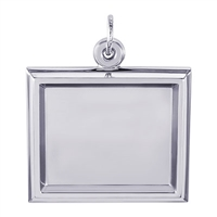Rembrandt PhotoArt Large Rectangle Horizontal Charm, Sterling Silver
