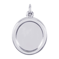 Rembrandt PhotoArt Large Oval Charm, Sterling Silver
