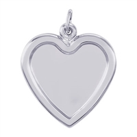 Rembrandt PhotoArt Large Heart Charm, Sterling Silver