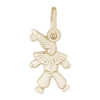 Rembrandt Clown Charm, Gold Plated Silver