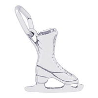 Rembrandt Ice Skate Charm, Sterling Silver