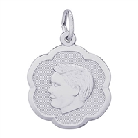 Rembrandt Boy Charm, 14K White Gold