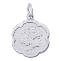 Rembrandt Girl Charm, 14K White Gold