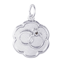Rembrandt Wedding Rings Engravable Disc Charm, Sterling Silver