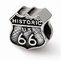 Reflections Route 66 Bead, Sterling Silver