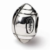 Reflections Football Bead, Sterling Silver