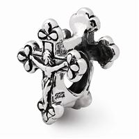 Reflections Crucifix Bead, Sterling Silver