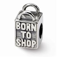 Reflections Born to Shop Bead, Sterling Silver