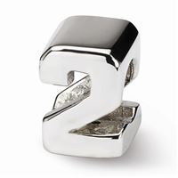 Reflections Numeral 2 Bead, Sterling Silver