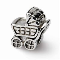 Reflections Baby Carriage Bead, Sterling Silver