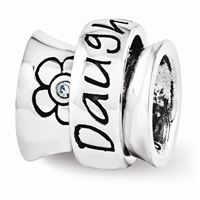 Reflections Swarovski Daughter Spinner Bead, Sterling Silver
