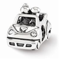 Reflections Swarovski Just Married Car Bead, Sterling Silver