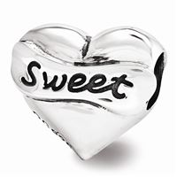 Reflections Swarovski Sweet 16 Heart Bead, Sterling Silver
