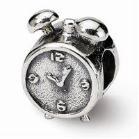 Reflections Alarm Clock Bead, Sterling Silver